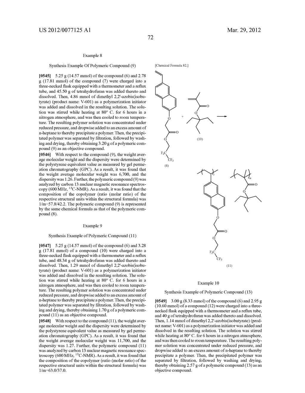 RESIST COMPOSITION FOR IMMERSION EXPOSURE, METHOD OF FORMING RESIST     PATTERN USING THE SAME, AND FLUORINE-CONTAINING COMPOUND - diagram, schematic, and image 74