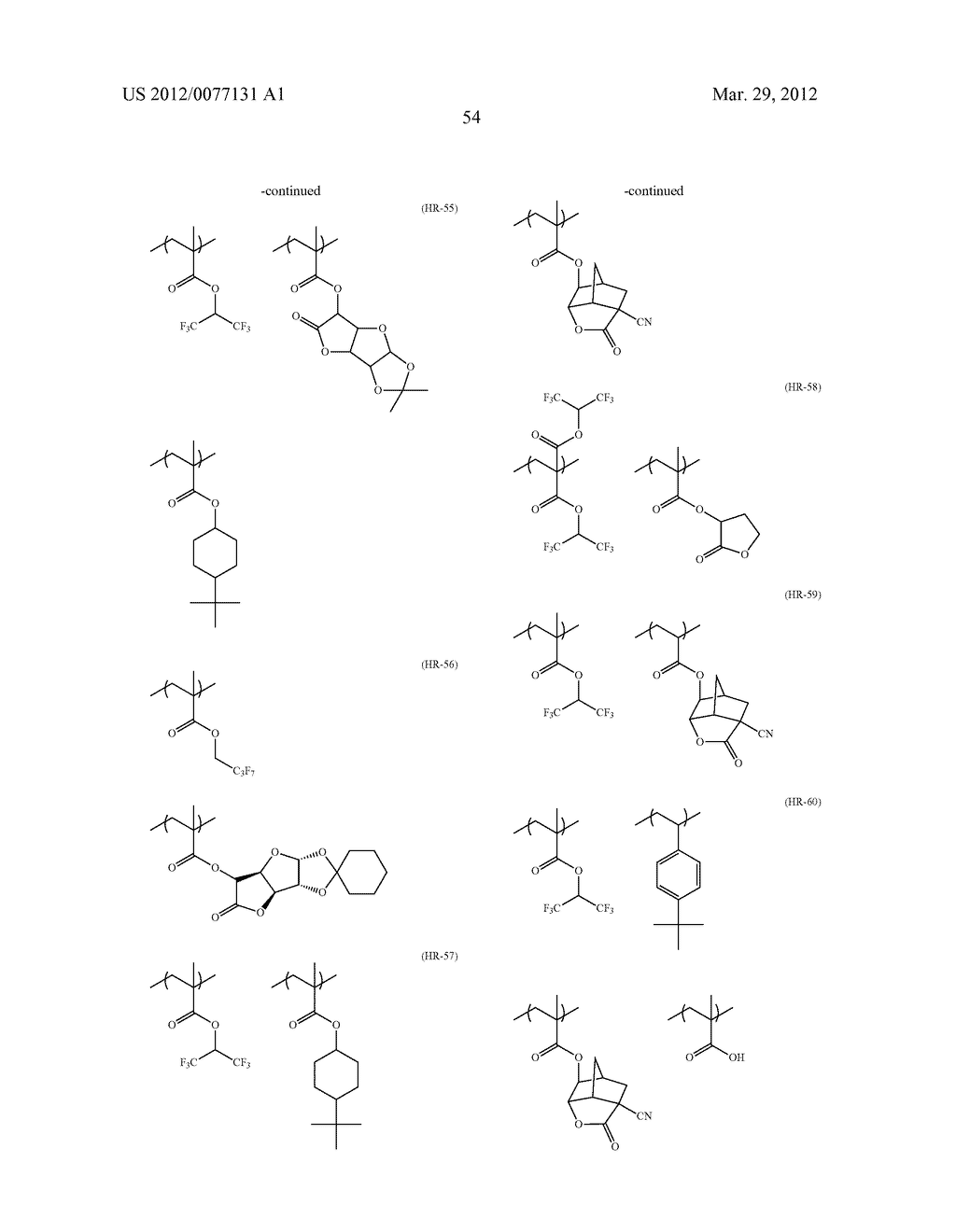 METHOD OF FORMING PATTERN USING ACTINIC-RAY OR RADIATION-SENSITIVE RESIN     COMPOSITION, AND PATTERN - diagram, schematic, and image 61