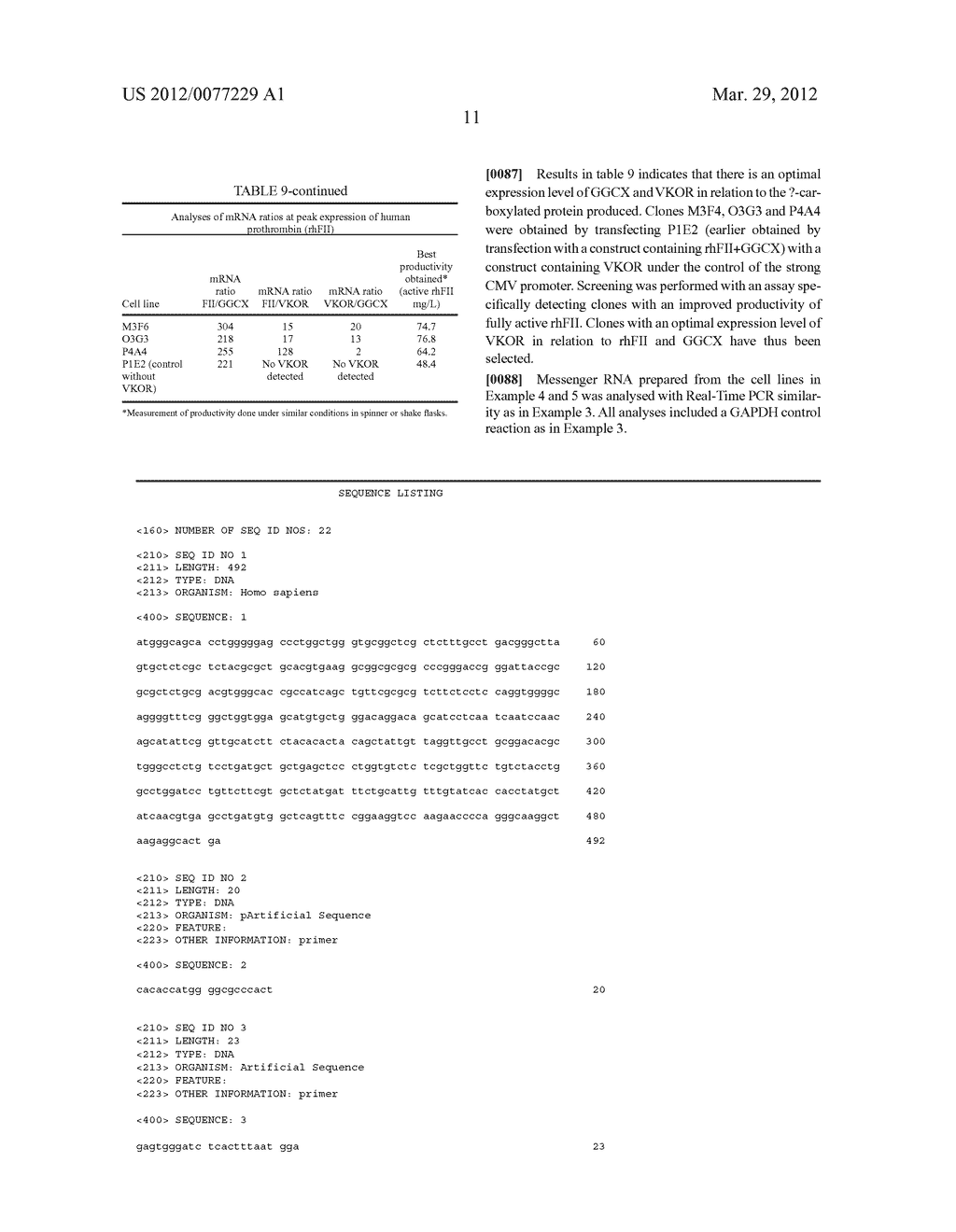 Compositions and methods relating to proteins requiring     Gamma-Carboxylation - diagram, schematic, and image 15