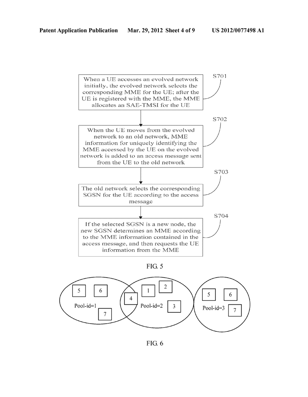METHOD AND APPARATUS FOR ACCESSING OLD NETWORK THROUGH TEMPORARY ID OF     EVLOVED NETWORK - diagram, schematic, and image 05