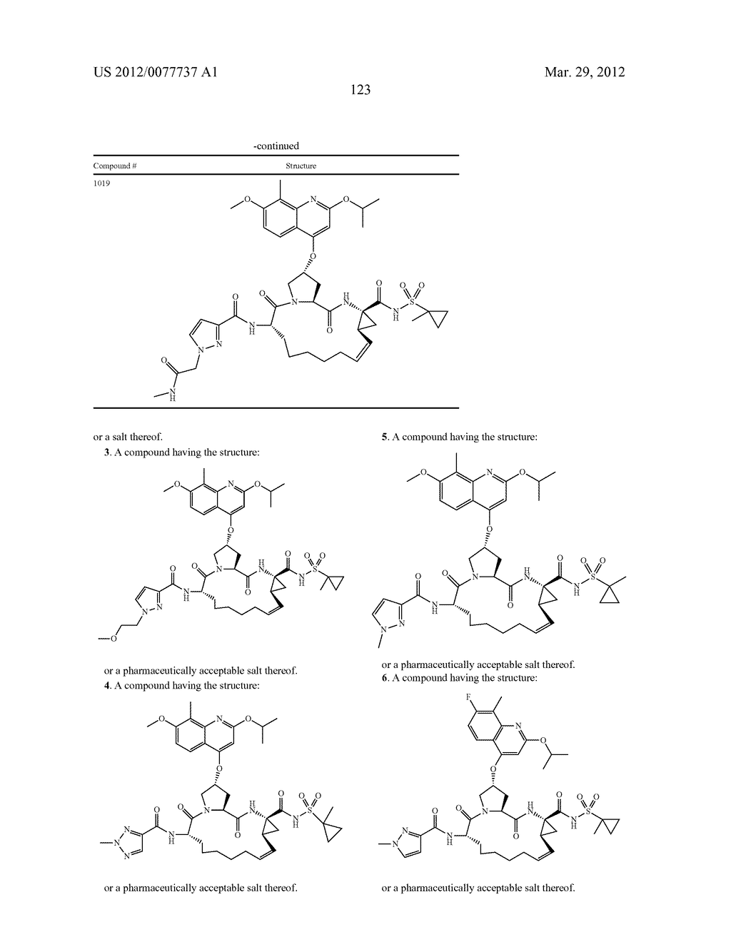 HEPATITIS C INHIBITOR COMPOUNDS - diagram, schematic, and image 124