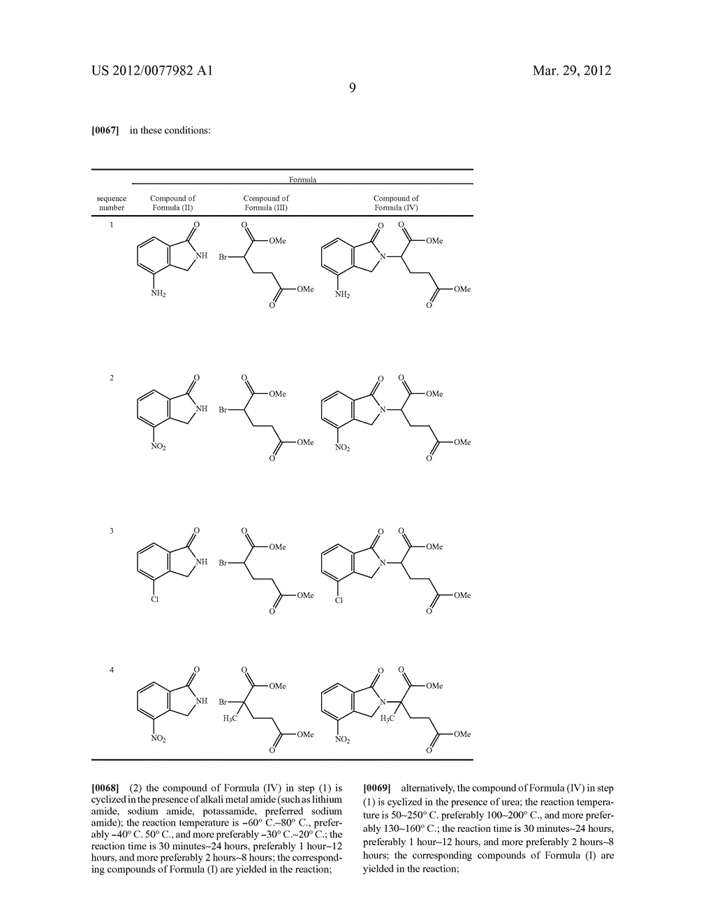 Methods for Synthesizing 3-(Substituted Dihydroisoindolinone-2-YL)-2,     6-Dioxopiperidine, and Intermediates Thereof - diagram, schematic, and image 10