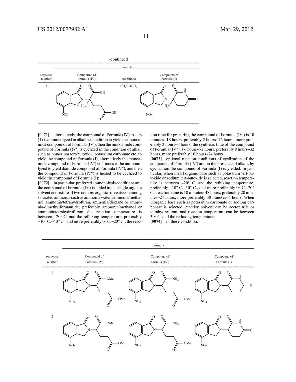 Methods for Synthesizing 3-(Substituted Dihydroisoindolinone-2-YL)-2,     6-Dioxopiperidine, and Intermediates Thereof - diagram, schematic, and image 12