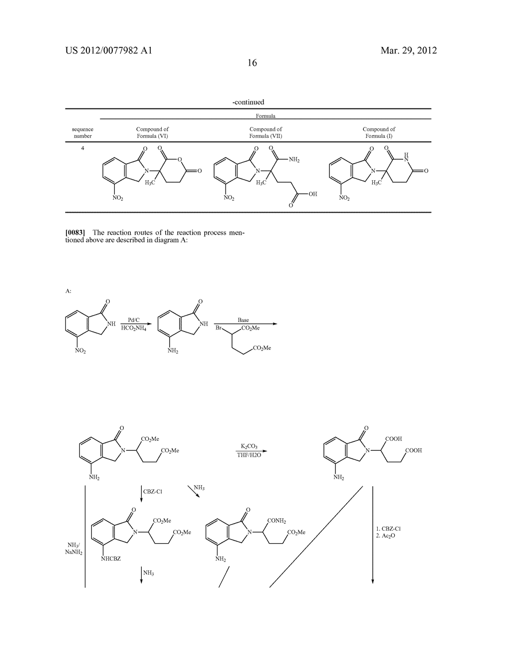 Methods for Synthesizing 3-(Substituted Dihydroisoindolinone-2-YL)-2,     6-Dioxopiperidine, and Intermediates Thereof - diagram, schematic, and image 17