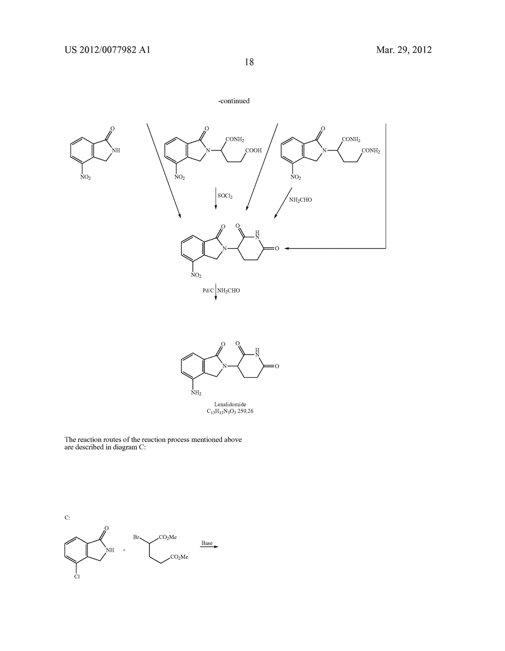 Methods for Synthesizing 3-(Substituted Dihydroisoindolinone-2-YL)-2,     6-Dioxopiperidine, and Intermediates Thereof - diagram, schematic, and image 19