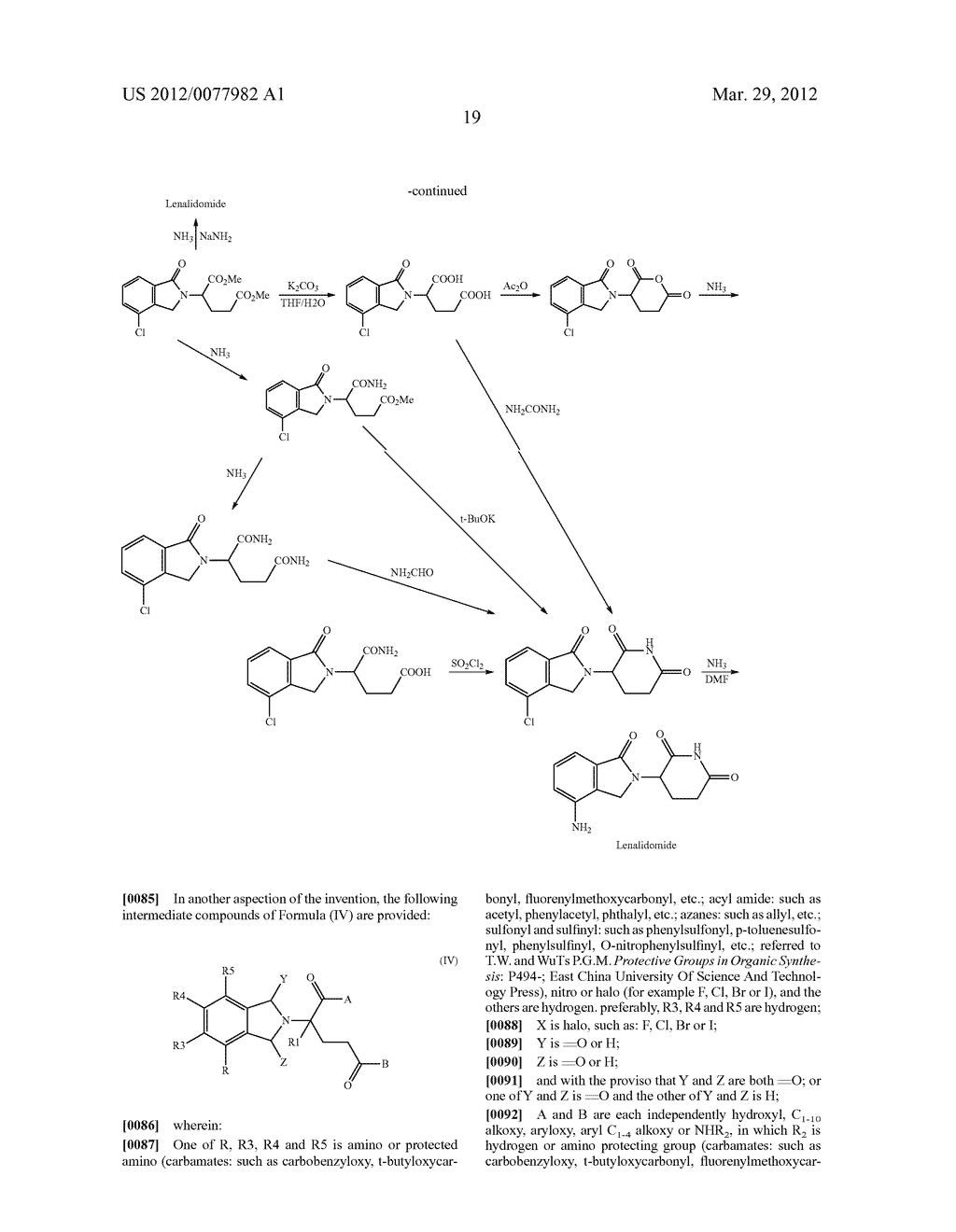 Methods for Synthesizing 3-(Substituted Dihydroisoindolinone-2-YL)-2,     6-Dioxopiperidine, and Intermediates Thereof - diagram, schematic, and image 20
