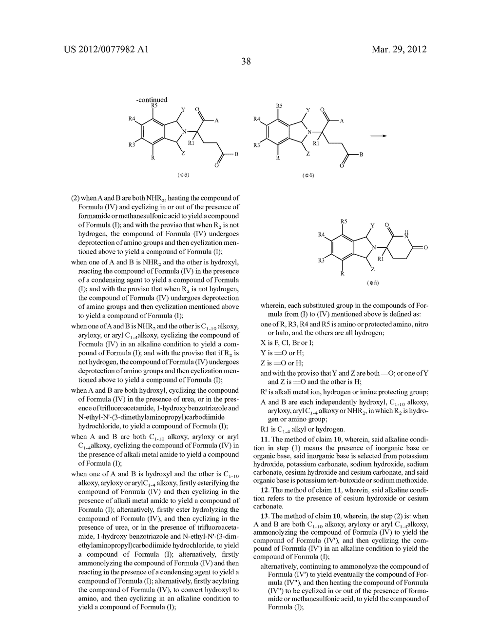 Methods for Synthesizing 3-(Substituted Dihydroisoindolinone-2-YL)-2,     6-Dioxopiperidine, and Intermediates Thereof - diagram, schematic, and image 39