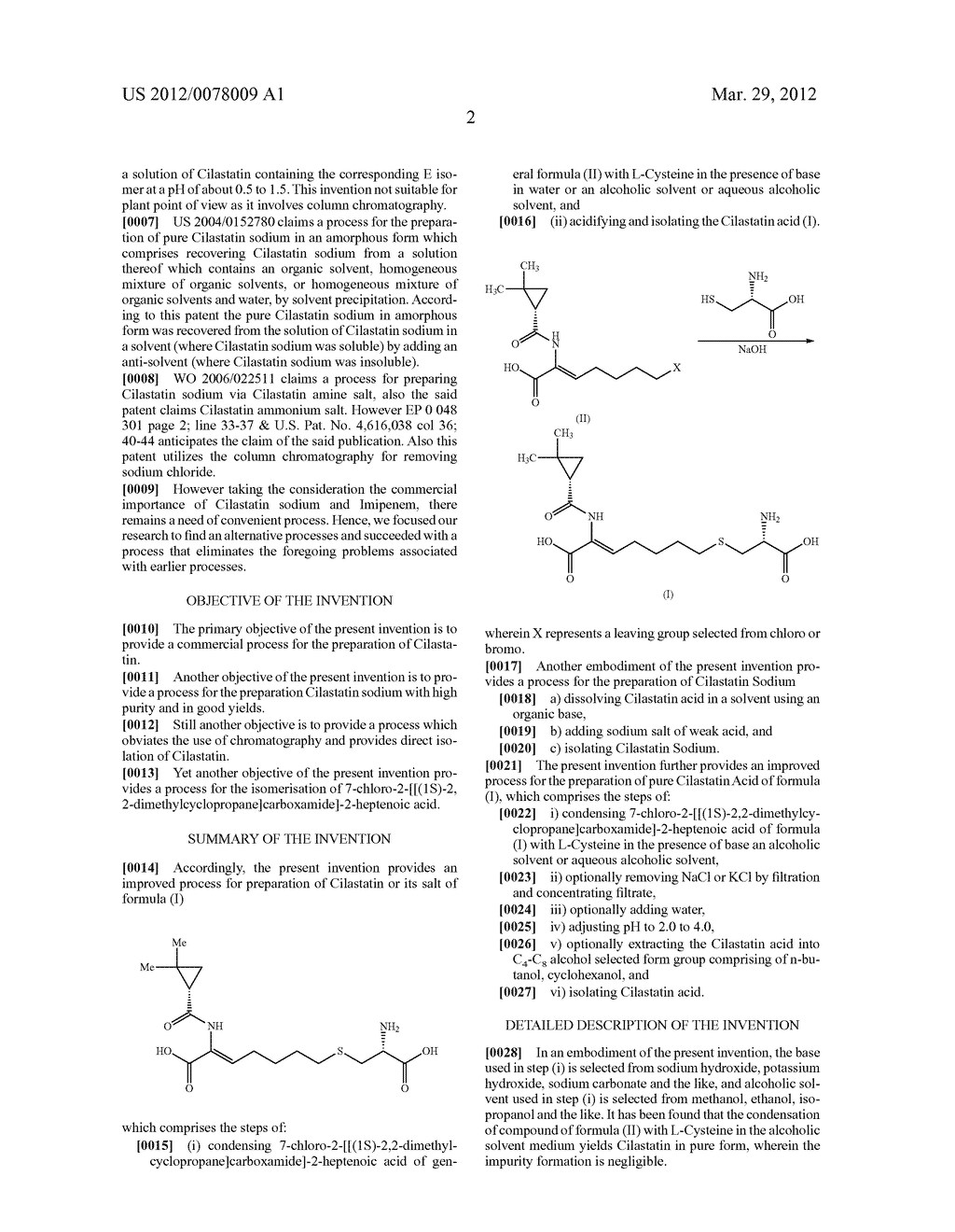 PROCESS FOR THE PREPARATION OF CILASTATIN AND SODIUM SALT - diagram, schematic, and image 03