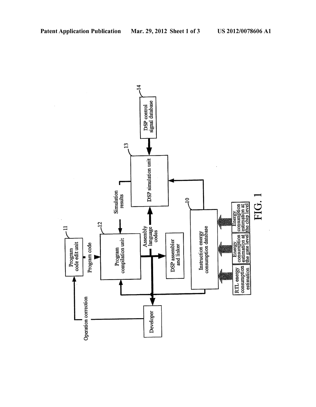 DEVELOPING SYSTEM AND METHOD FOR OPTIMIZING THE ENERGY CONSUMPTION OF AN     APPLICATION PROGRAM FOR A DIGITAL SIGNAL PROCESSOR - diagram, schematic, and image 02