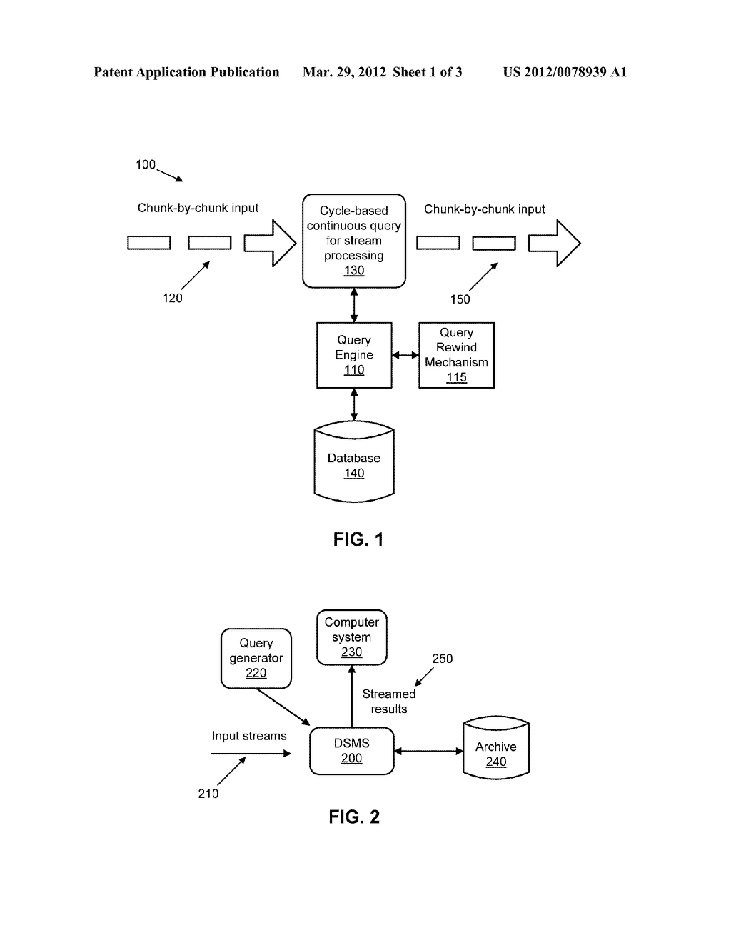 Query Rewind Mechanism for Processing a Continuous Stream of Data - diagram, schematic, and image 02
