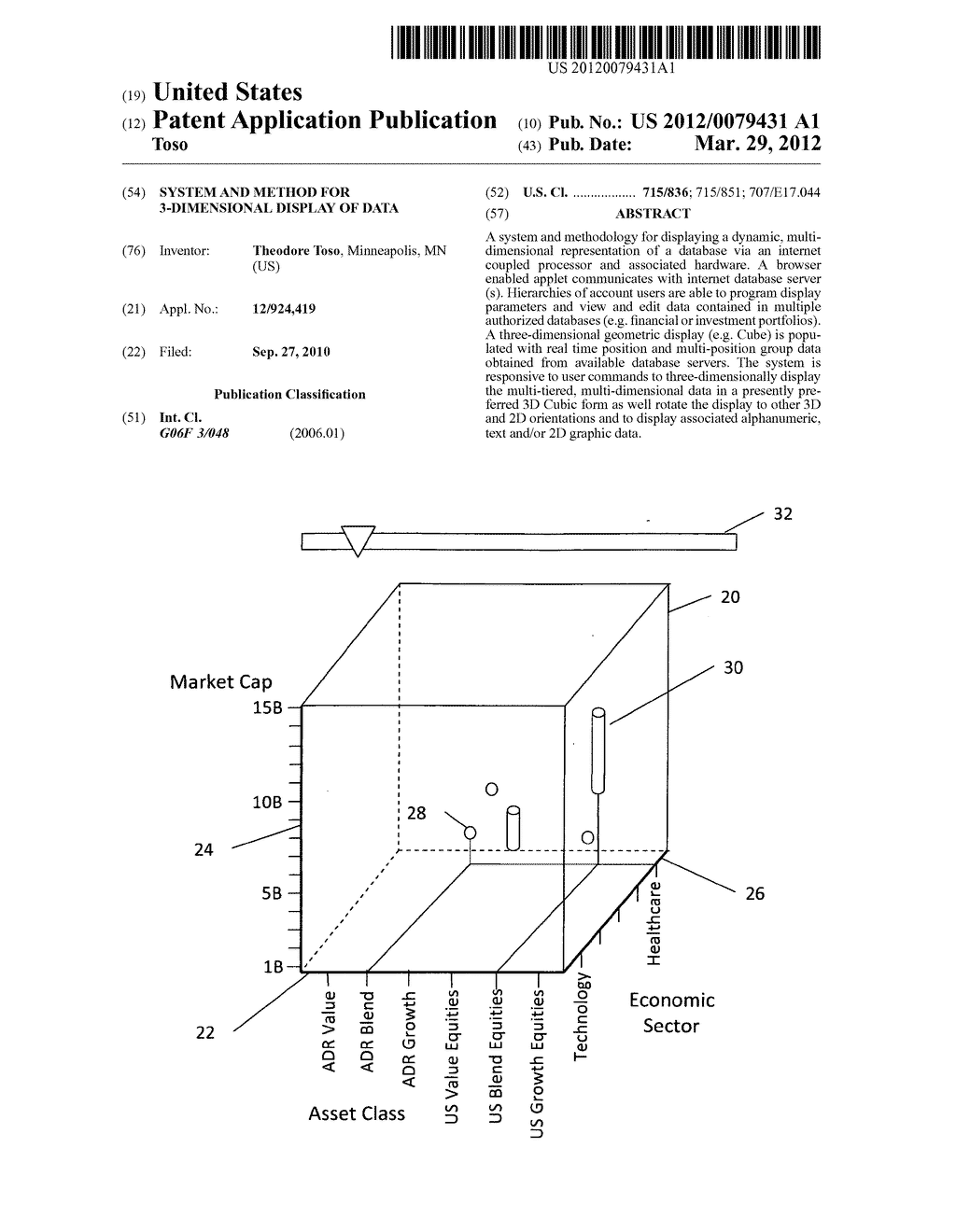 System and method for 3-dimensional display of data - diagram, schematic, and image 01