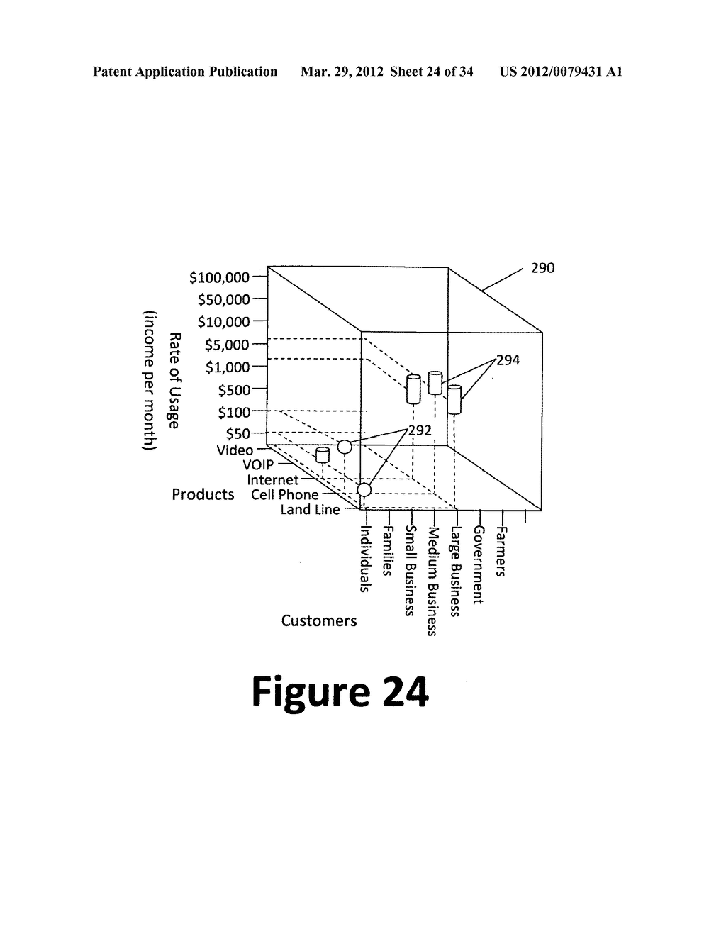 System and method for 3-dimensional display of data - diagram, schematic, and image 25