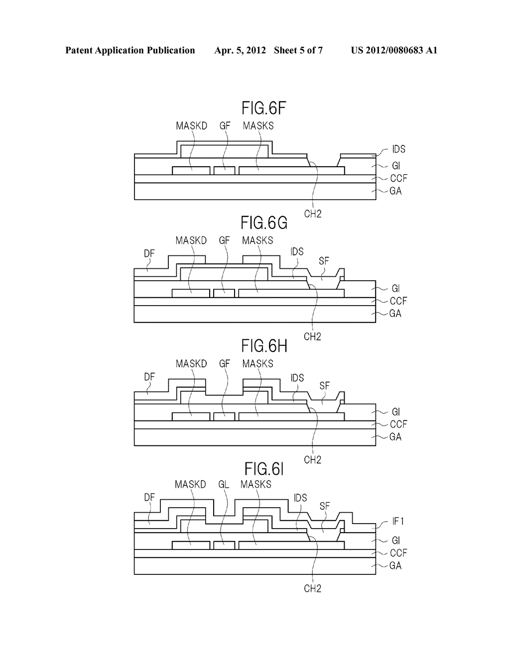 THIN FILM TRANSITOR, DISPLAY DEVICE, AND LIQUID CRYSTAL DISPLAY DEVICE - diagram, schematic, and image 06