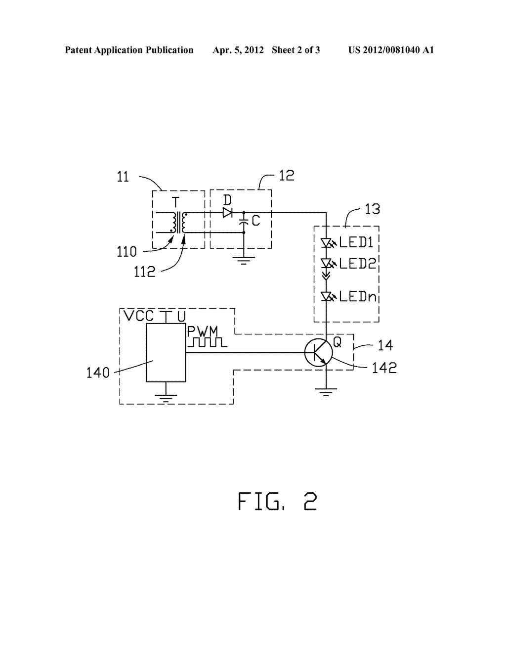 LIGHT EMITTING DIODE DRIVING CIRCUIT - diagram, schematic, and image 03