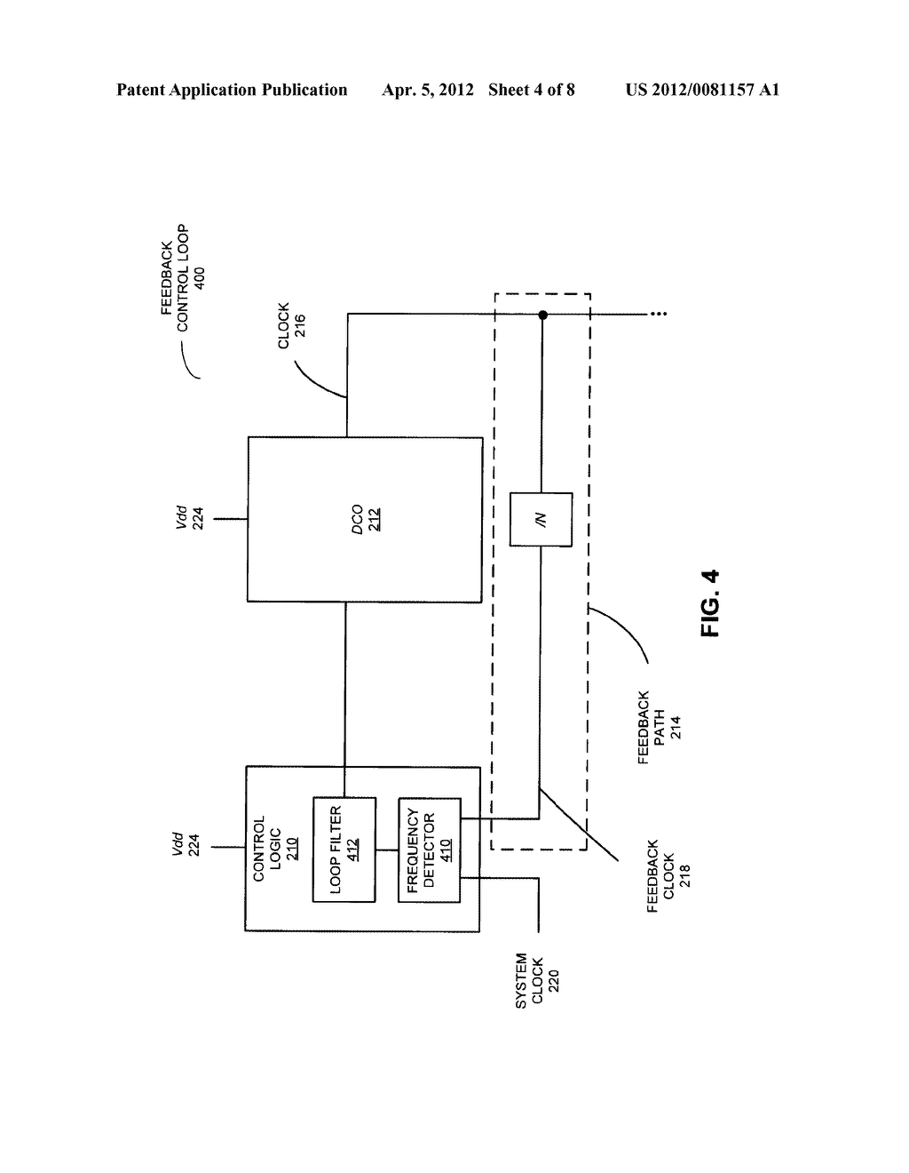 POWER-SUPPLY NOISE SUPPRESSION USING A FREQUENCY-LOCKED LOOP - diagram, schematic, and image 05