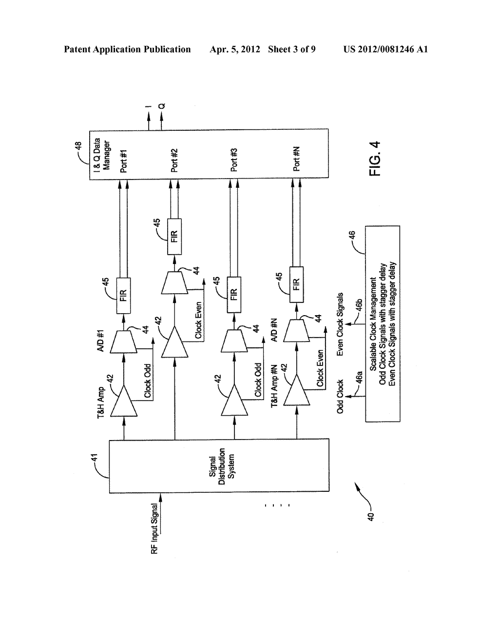 COMPLEX ANALOG TO DIGITAL CONVERTER (CADC) SYSTEM ON CHIP DOUBLE RATE     ARCHITECTURE - diagram, schematic, and image 04
