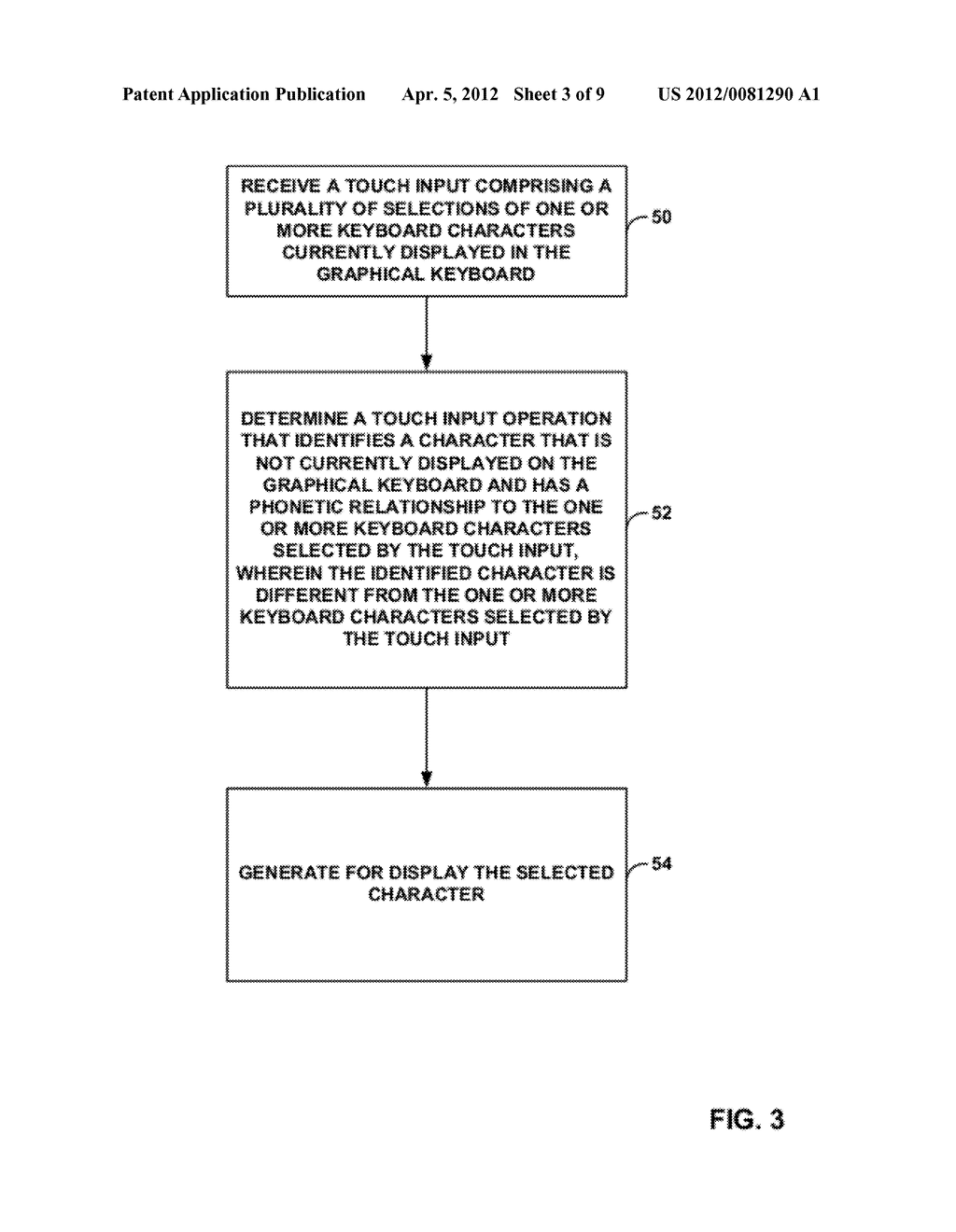 TOUCH KEYBOARD WITH PHONETIC CHARACTER SHORTCUTS - diagram, schematic, and image 04