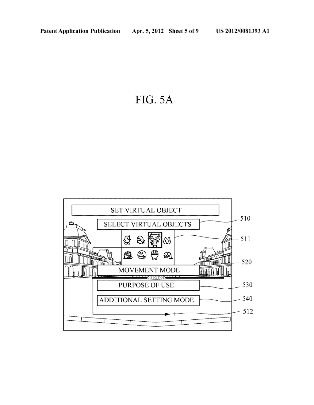 APPARATUS AND METHOD FOR PROVIDING AUGMENTED REALITY USING VIRTUAL OBJECTS - diagram, schematic, and image 06