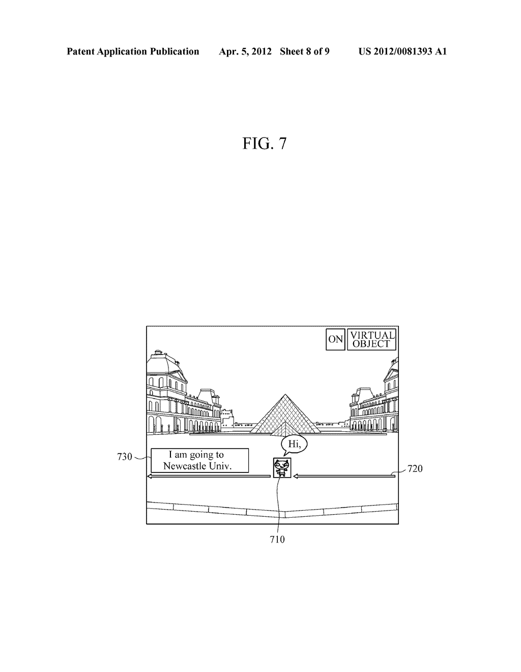 APPARATUS AND METHOD FOR PROVIDING AUGMENTED REALITY USING VIRTUAL OBJECTS - diagram, schematic, and image 09
