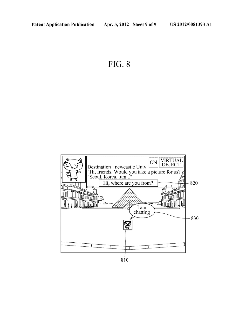 APPARATUS AND METHOD FOR PROVIDING AUGMENTED REALITY USING VIRTUAL OBJECTS - diagram, schematic, and image 10