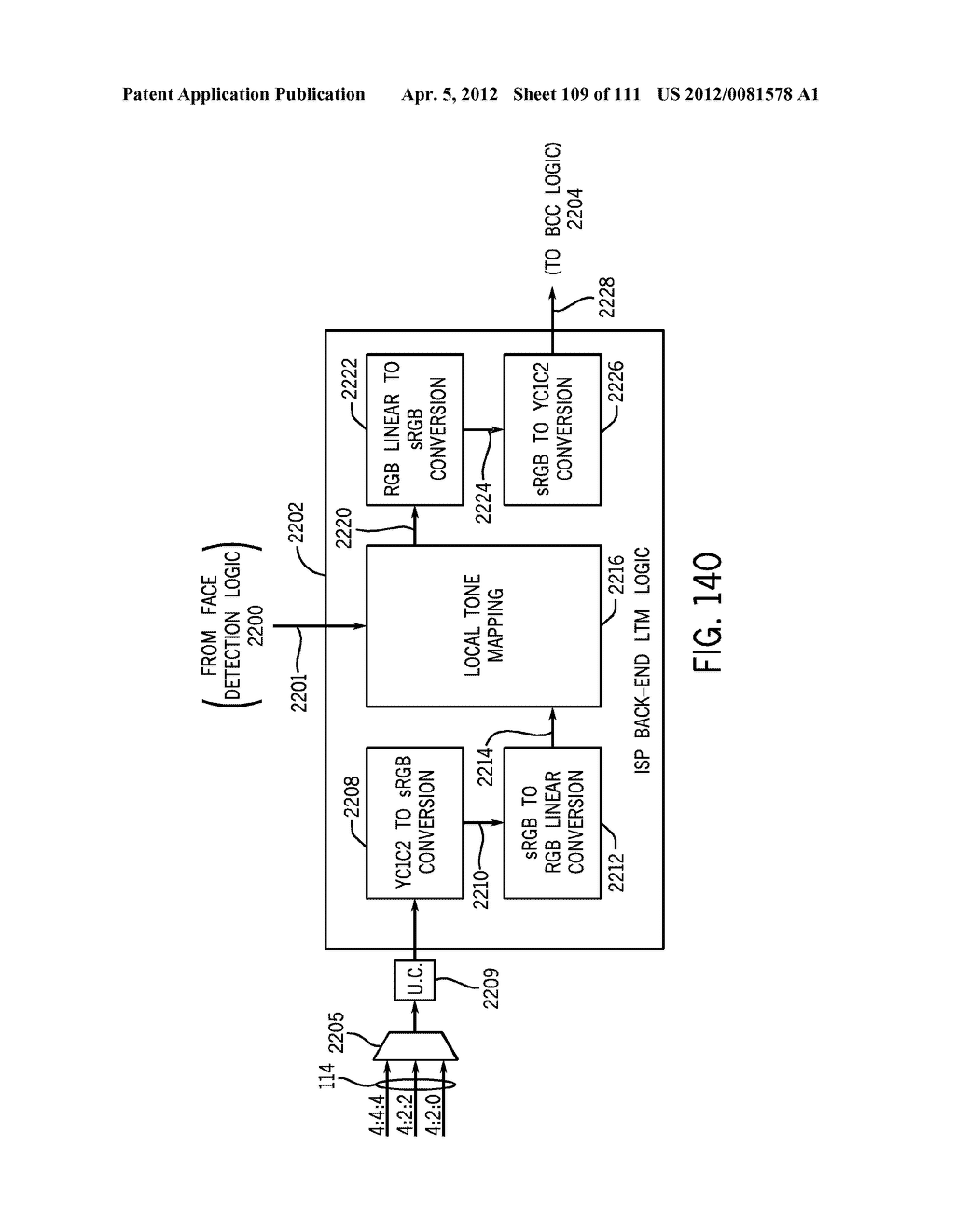 IMAGE SIGNAL PROCESSOR LINE BUFFER CONFIGURATION FOR PROCESSING RAW IMAGE     DATA - diagram, schematic, and image 110