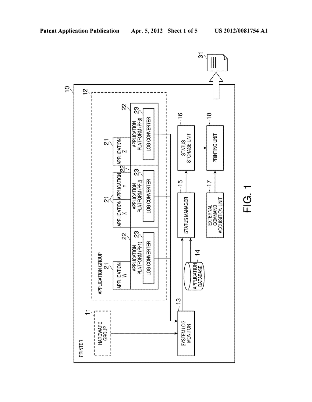 ELECTRONIC DEVICE, PRINTER, STATUS MANAGEMENT METHOD FOR AN ELECTRONIC     DEVICE, AND RECORDING MEDIUM - diagram, schematic, and image 02