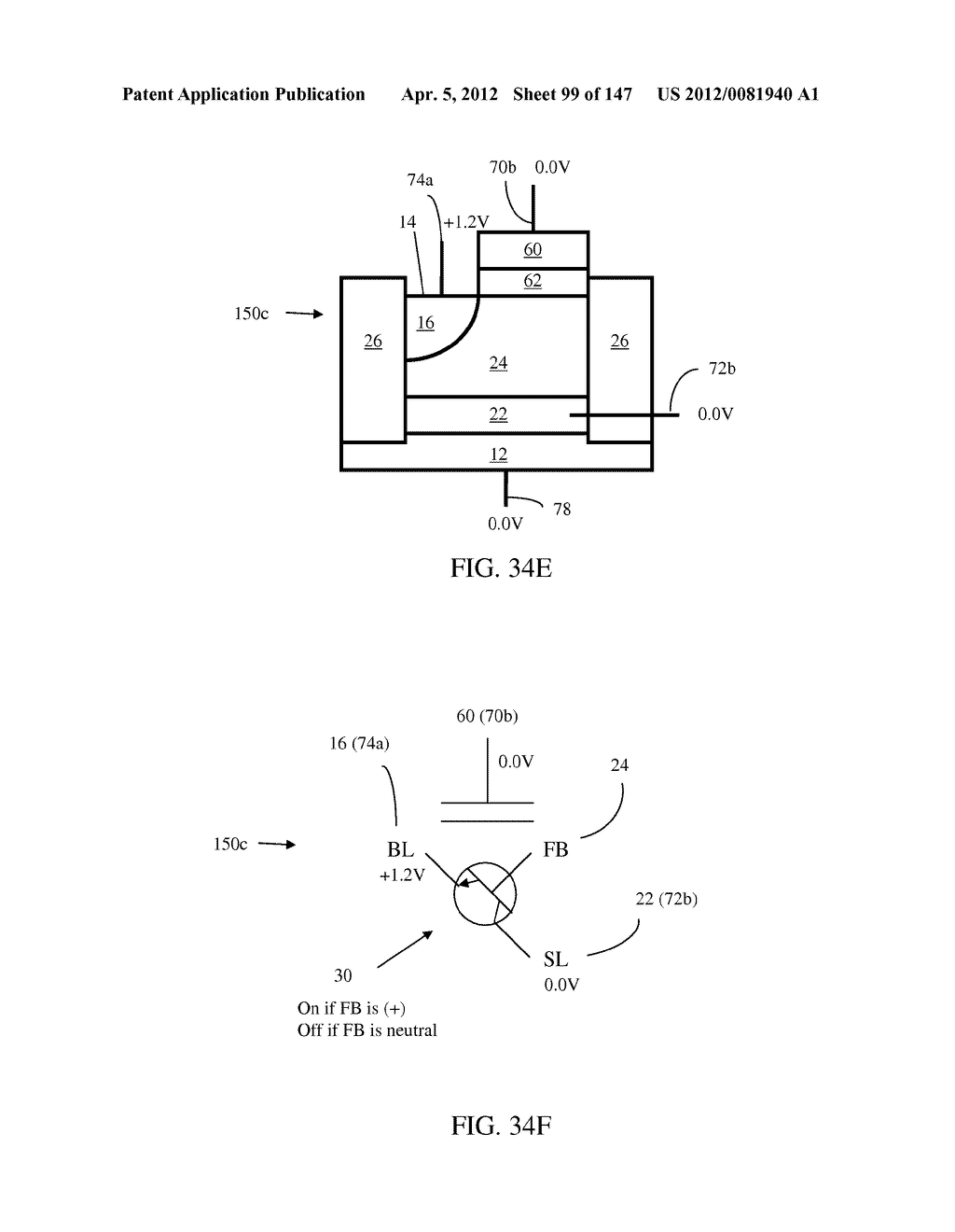 SEMICONDUCTOR MEMORY DEVICE HAVING AN ELECTRICALLY FLOATING BODY     TRANSISTOR - diagram, schematic, and image 100