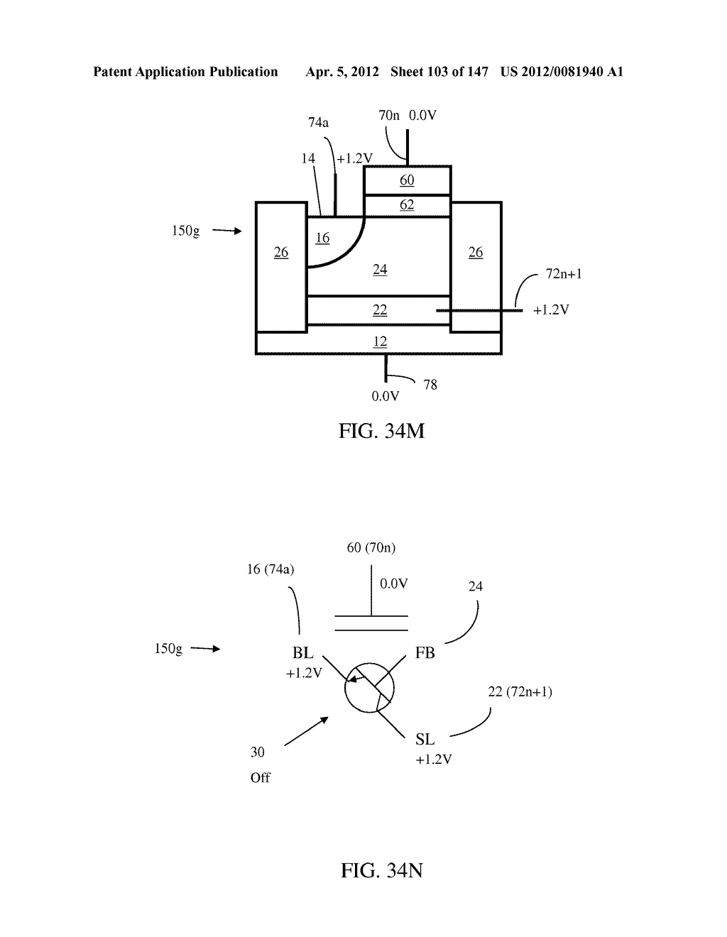 SEMICONDUCTOR MEMORY DEVICE HAVING AN ELECTRICALLY FLOATING BODY     TRANSISTOR - diagram, schematic, and image 104