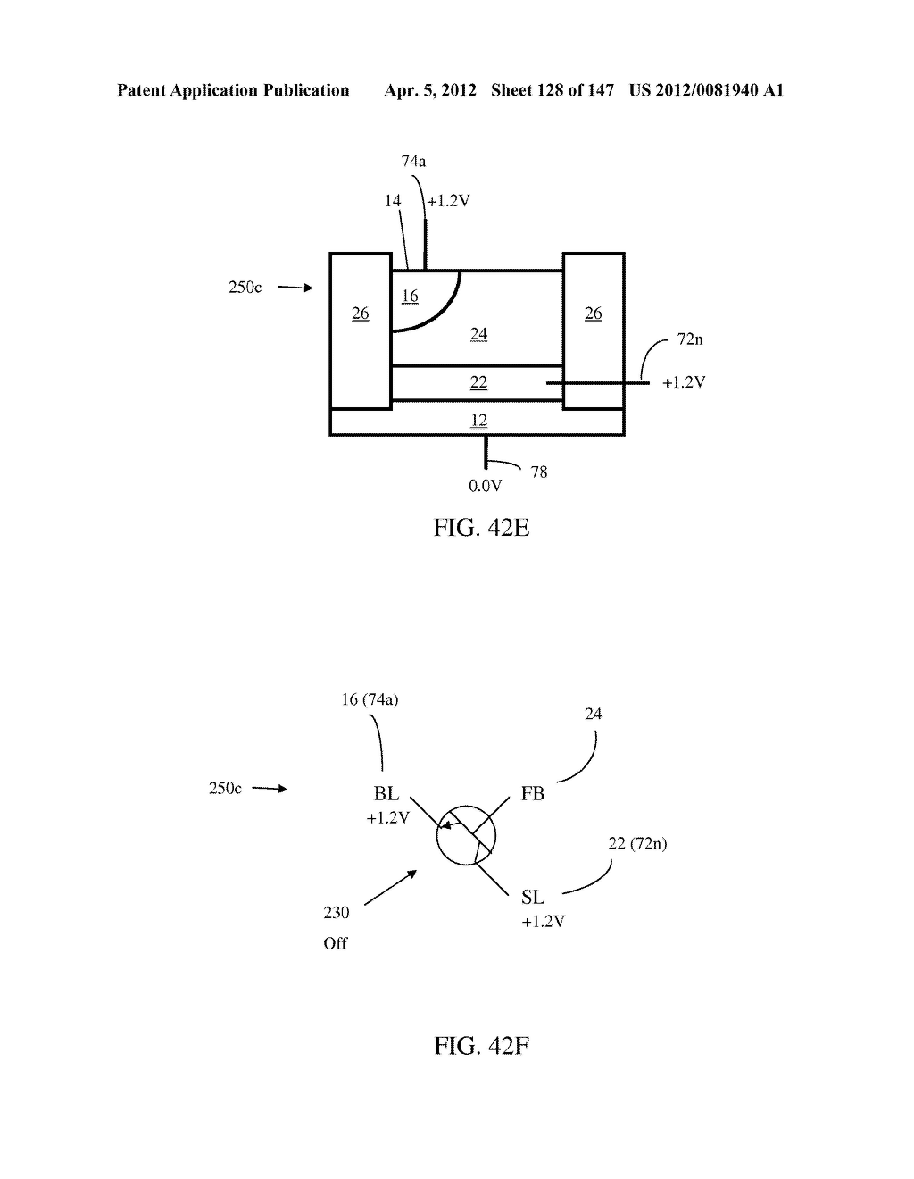 SEMICONDUCTOR MEMORY DEVICE HAVING AN ELECTRICALLY FLOATING BODY     TRANSISTOR - diagram, schematic, and image 129