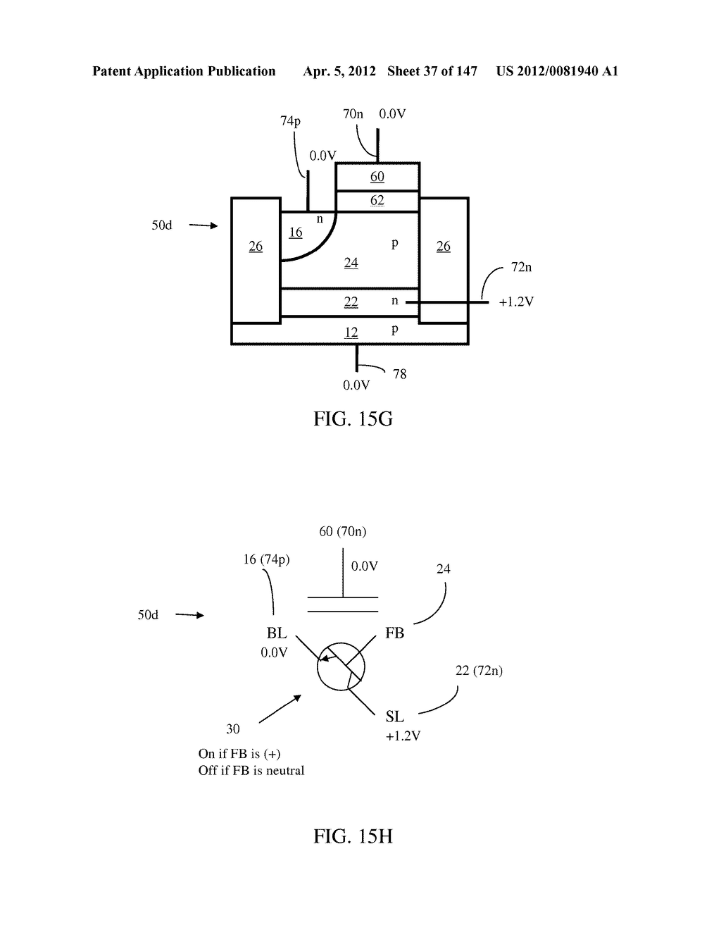 SEMICONDUCTOR MEMORY DEVICE HAVING AN ELECTRICALLY FLOATING BODY     TRANSISTOR - diagram, schematic, and image 38