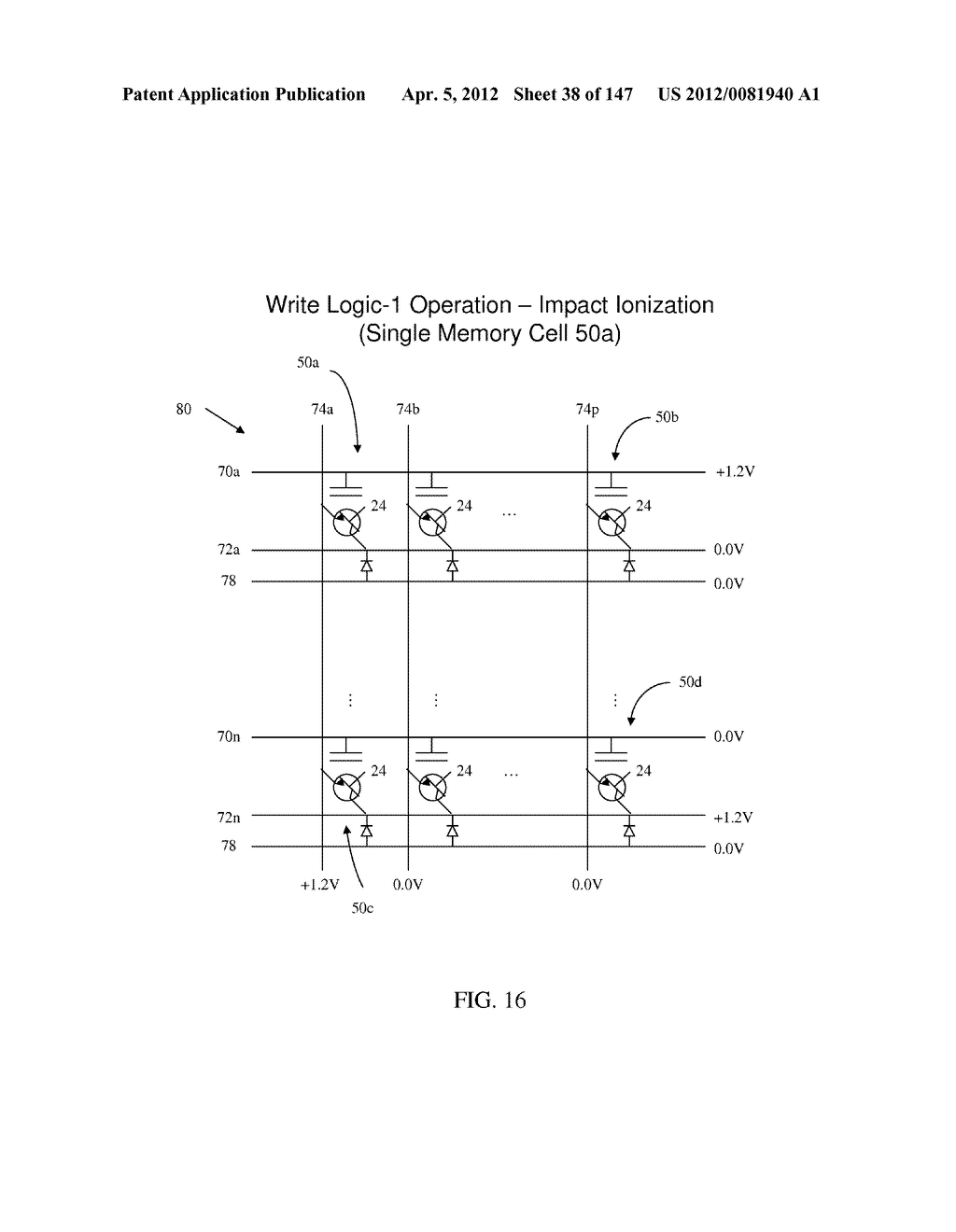 SEMICONDUCTOR MEMORY DEVICE HAVING AN ELECTRICALLY FLOATING BODY     TRANSISTOR - diagram, schematic, and image 39
