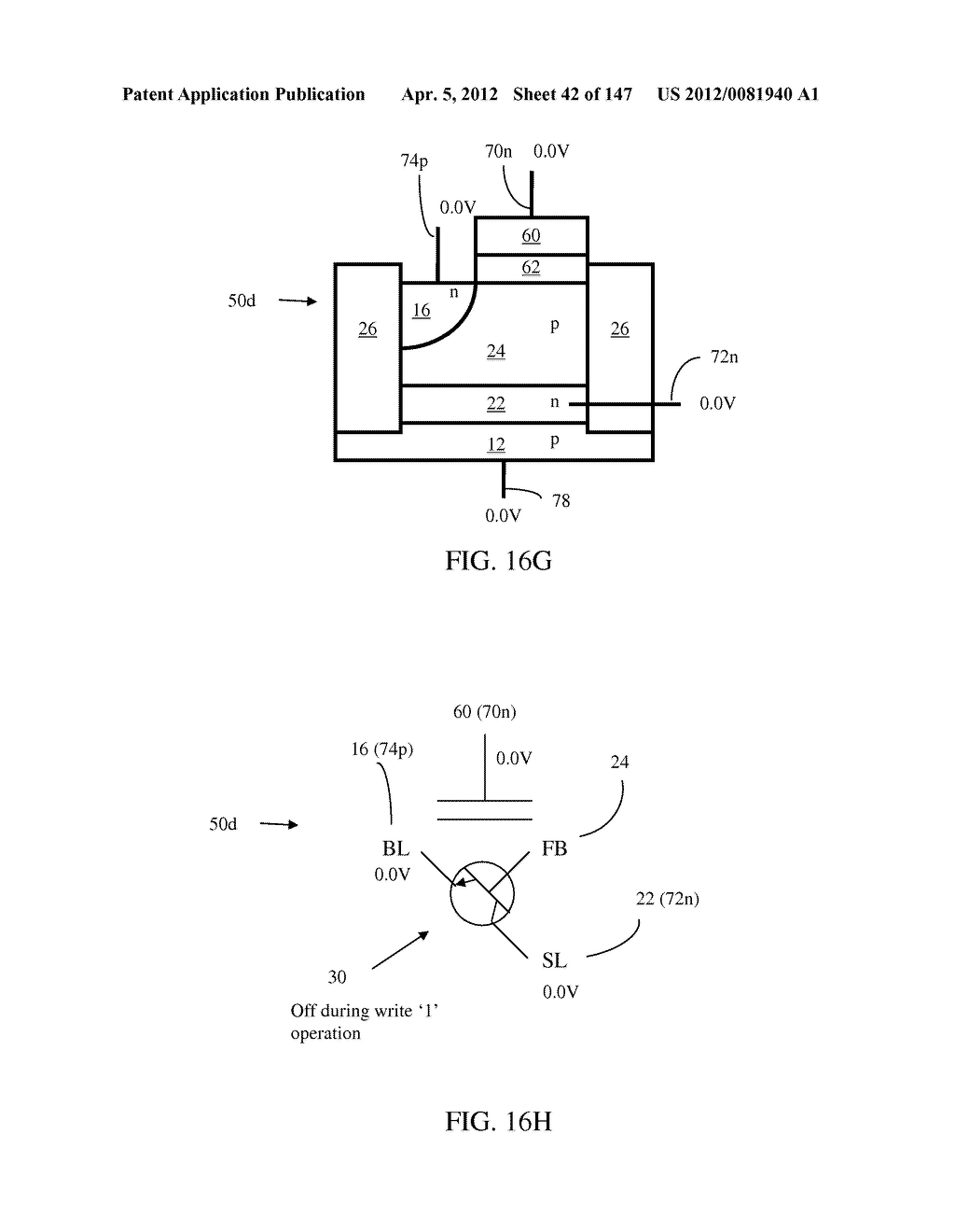 SEMICONDUCTOR MEMORY DEVICE HAVING AN ELECTRICALLY FLOATING BODY     TRANSISTOR - diagram, schematic, and image 43