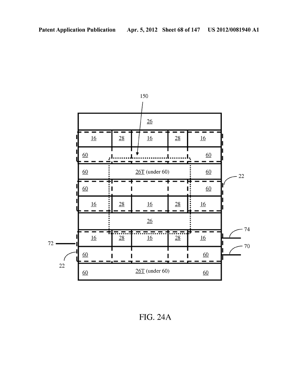 SEMICONDUCTOR MEMORY DEVICE HAVING AN ELECTRICALLY FLOATING BODY     TRANSISTOR - diagram, schematic, and image 69