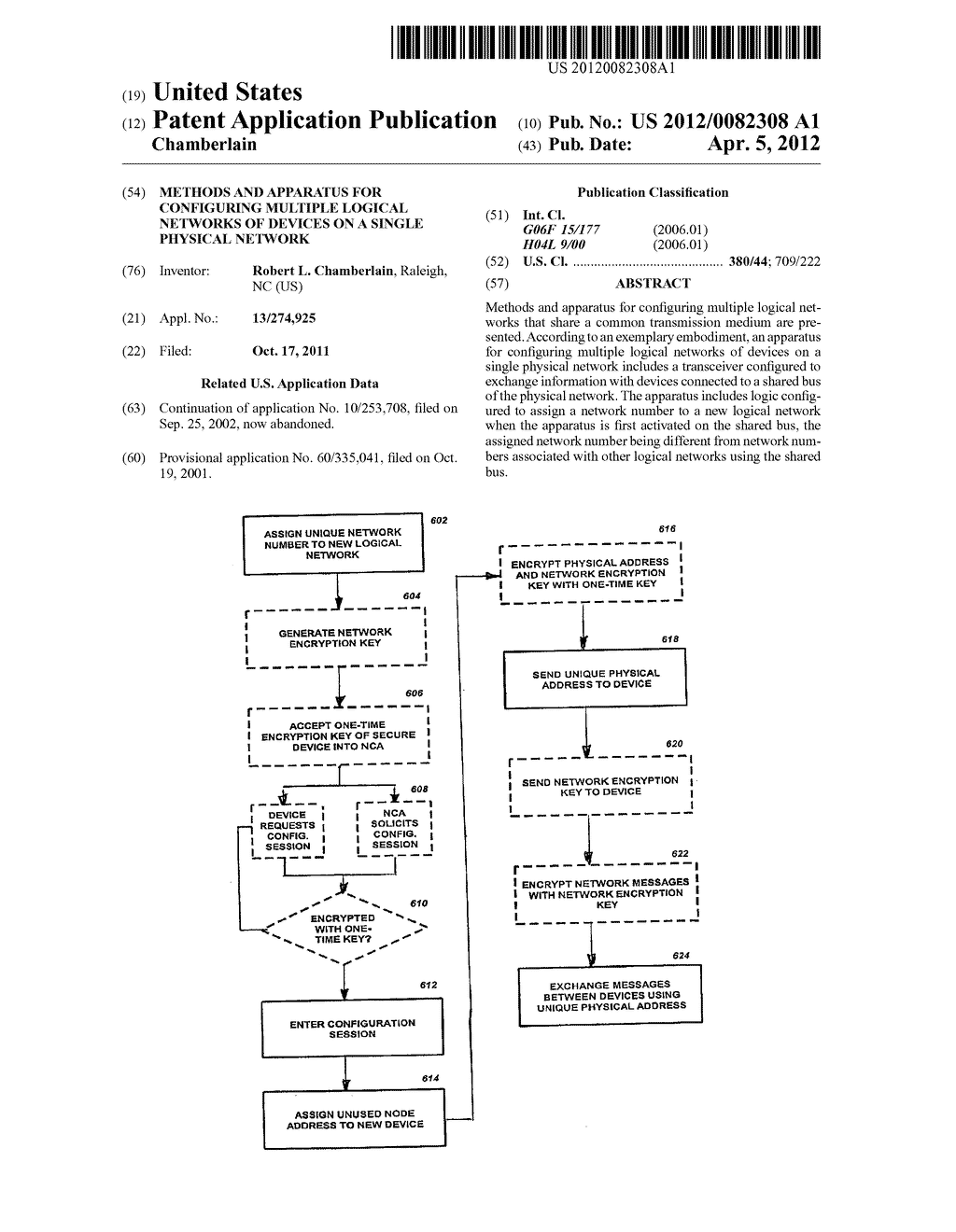 Methods and Apparatus For Configuring Multiple Logical Networks of Devices     on a Single Physical Network - diagram, schematic, and image 01