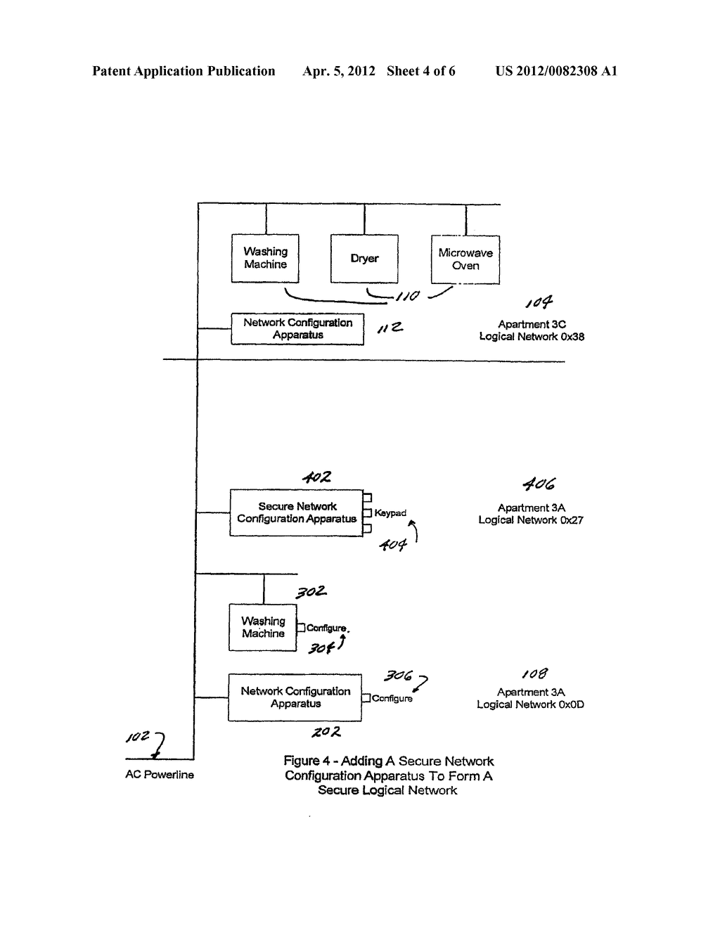 Methods and Apparatus For Configuring Multiple Logical Networks of Devices     on a Single Physical Network - diagram, schematic, and image 05