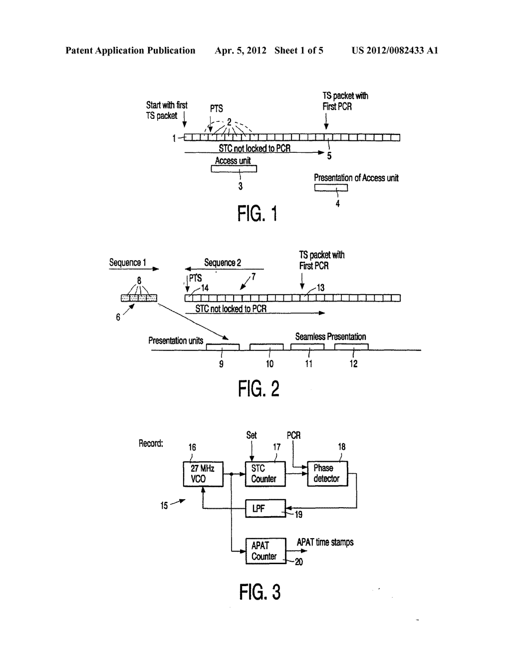 METHOD OF SETTING A SYSTEM TIME CLOCK AT THE START OF AN MPEG SEQUENCE - diagram, schematic, and image 02