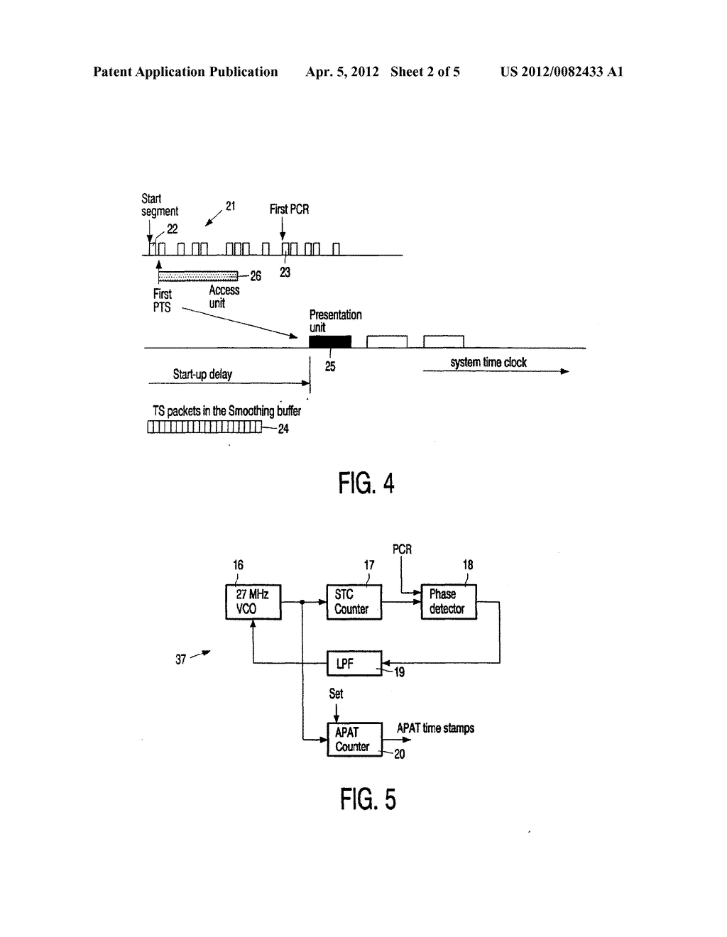 METHOD OF SETTING A SYSTEM TIME CLOCK AT THE START OF AN MPEG SEQUENCE - diagram, schematic, and image 03