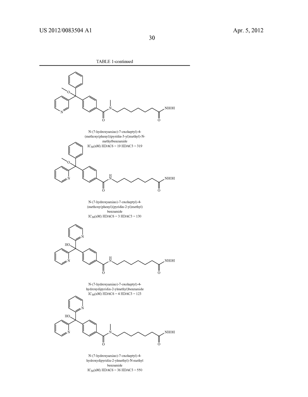 Reverse Amide Compounds As Protein Deacetylase Inhibitors And Methods Of     Use Thereof - diagram, schematic, and image 31
