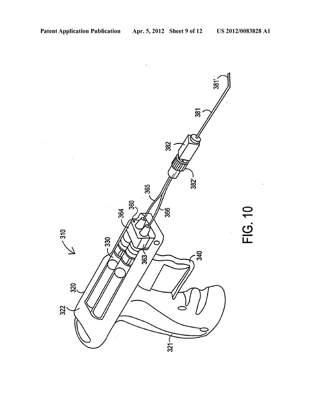 Apparatus and method for delivery of biological sealant - diagram, schematic, and image 10