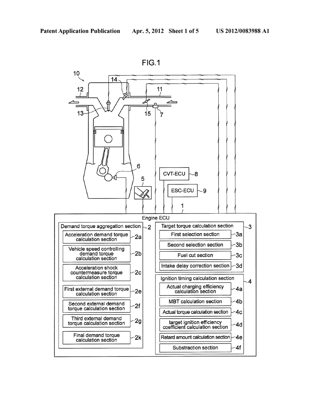 ENGINE CONTROLLING APPARATUS - diagram, schematic, and image 02