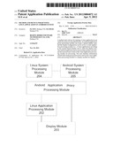 METHOD AND DEVICE FOR RUNNING LINUX APPLICATION IN ANDROID SYSTEM diagram and image