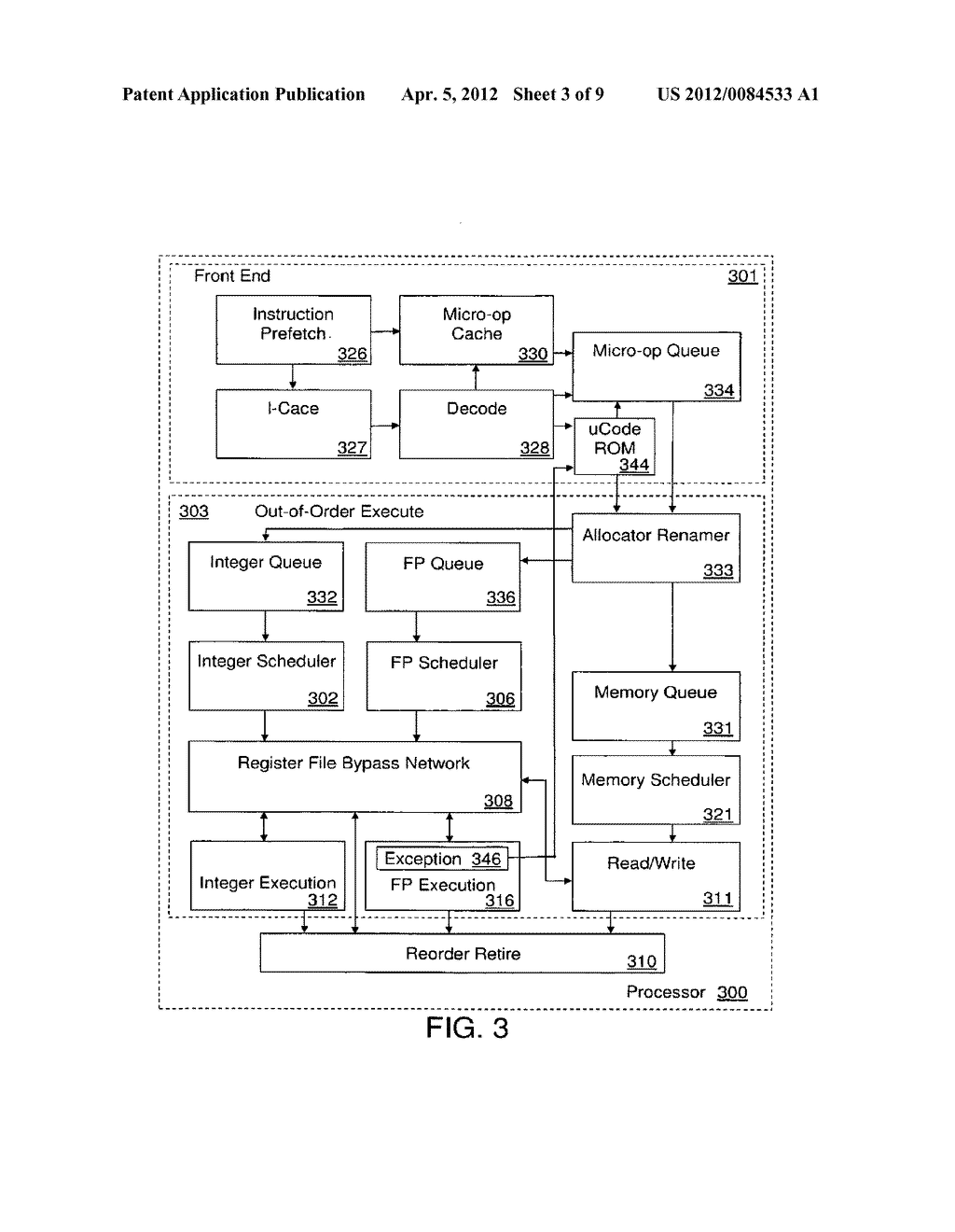 Efficient Parallel Floating Point Exception Handling In A Processor - diagram, schematic, and image 04