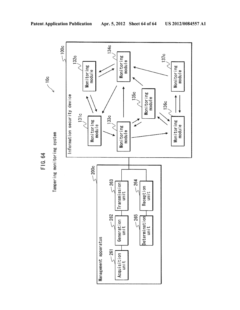 TAMPERING MONITORING SYSTEM, CONTROL DEVICE, AND TAMPERING CONTROL METHOD - diagram, schematic, and image 65
