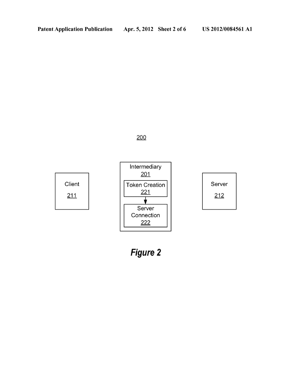 TOKEN-BASED AUTHENTICATION USING MIDDLE TIER - diagram, schematic, and image 03