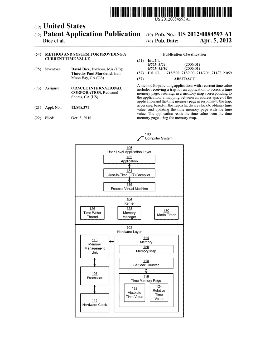 METHOD AND SYSTEM FOR PROVIDING A CURRENT TIME VALUE - diagram, schematic, and image 01