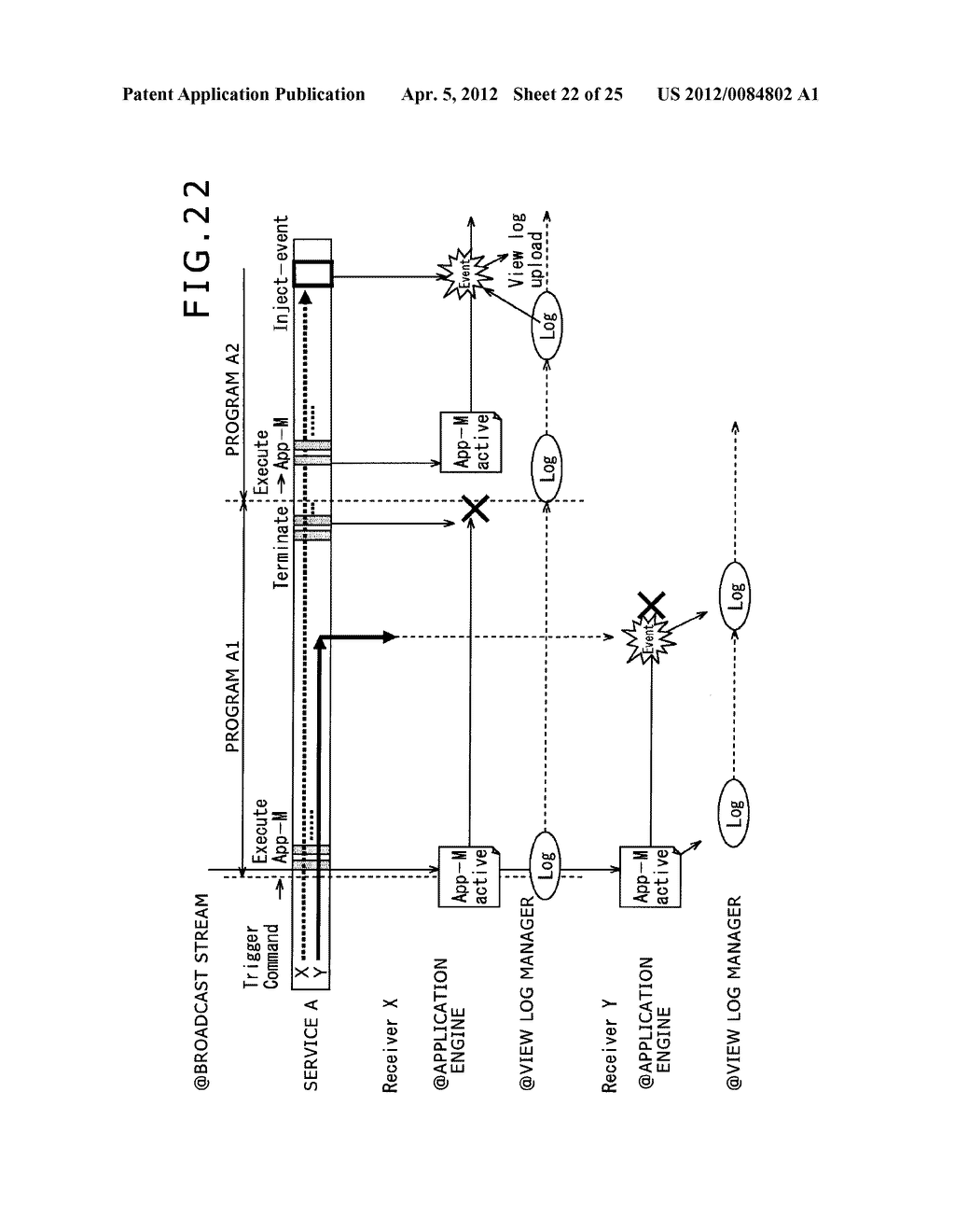 RECEPTION APPARATUS, RECEPTION METHOD, TRANSMISSION APPARATUS,     TRANSMISSION METHOD, PROGRAM, AND BROADCASTING SYSTEM - diagram, schematic, and image 23