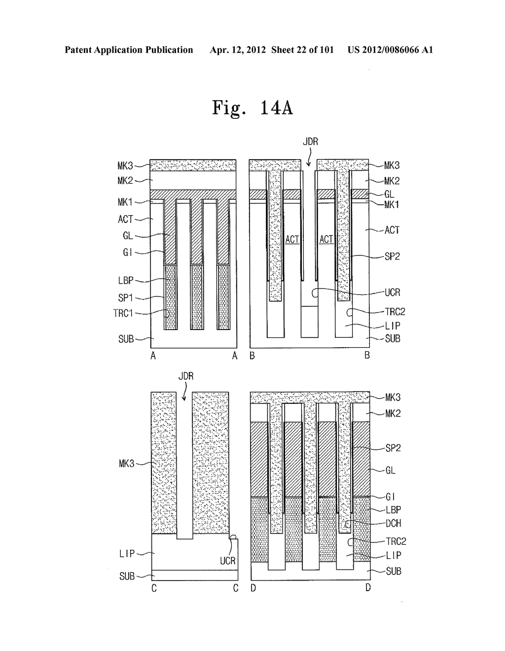 SEMICONDUCTOR DEVICE WITH VERTICAL CHANNEL TRANSISTOR AND METHOD OF     FABRICATING THE SAME - diagram, schematic, and image 23