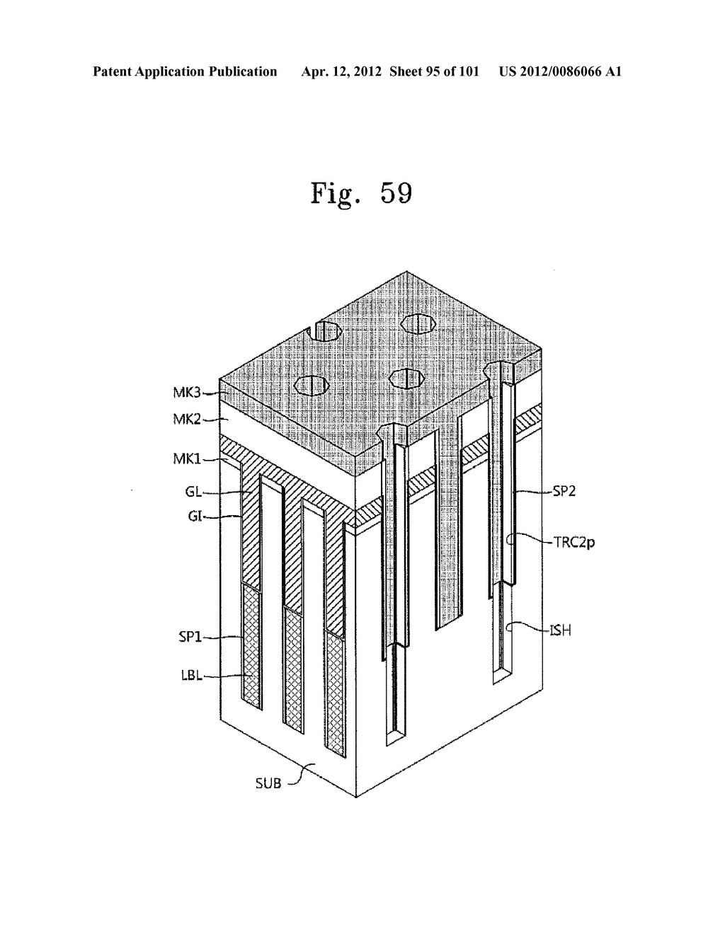 SEMICONDUCTOR DEVICE WITH VERTICAL CHANNEL TRANSISTOR AND METHOD OF     FABRICATING THE SAME - diagram, schematic, and image 96