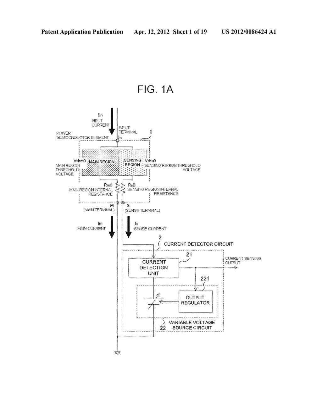 POWER SEMICONDUCTOR DEVICE CURRENT DETECTOR CIRCUIT AND DETECTION METHOD - diagram, schematic, and image 02