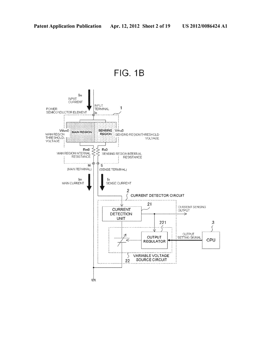 POWER SEMICONDUCTOR DEVICE CURRENT DETECTOR CIRCUIT AND DETECTION METHOD - diagram, schematic, and image 03